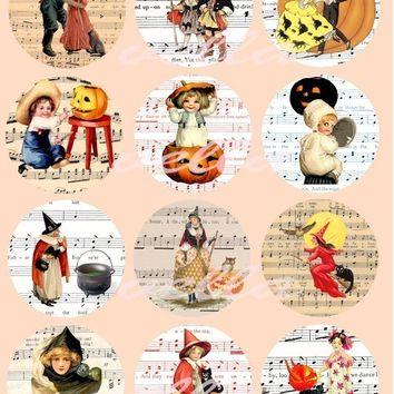Sheet Music clipart vintage halloween Art sheet inch COLLAGe digital