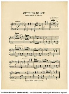 Sheet Music clipart vintage halloween Uploaded This Music Witches other