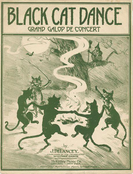 Sheet Music clipart vintage halloween ~Holidays: and Vintage Black &
