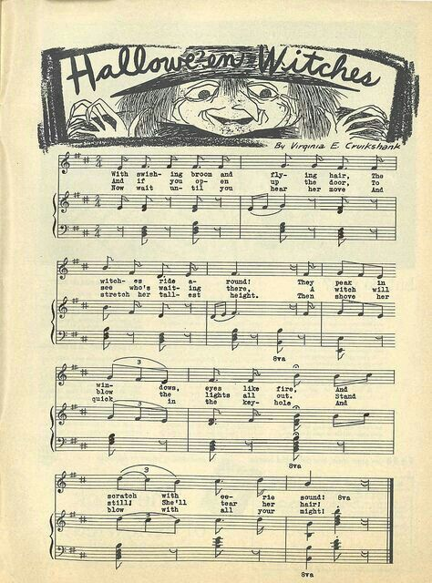 Sheet Music clipart vintage halloween Printables and on about Find