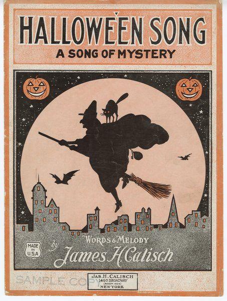 Sheet Music clipart vintage halloween Images Halloween on Music Vintage