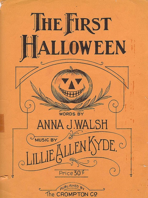 Sheet Music clipart vintage halloween 177 Halloween Music Vintage 1920s