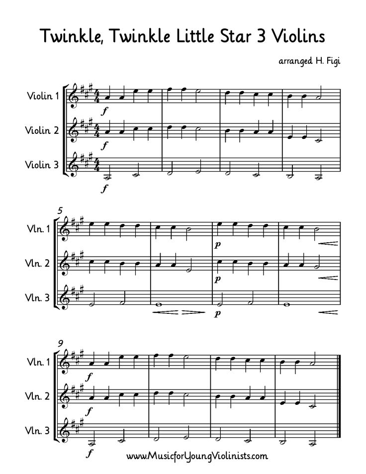 Sheet Music clipart violin A about Twinkle for Star