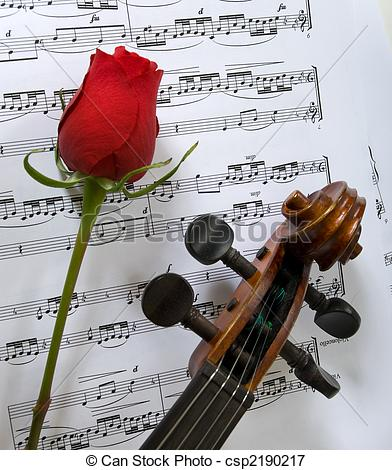 Sheet Music clipart violin And single of sheet and