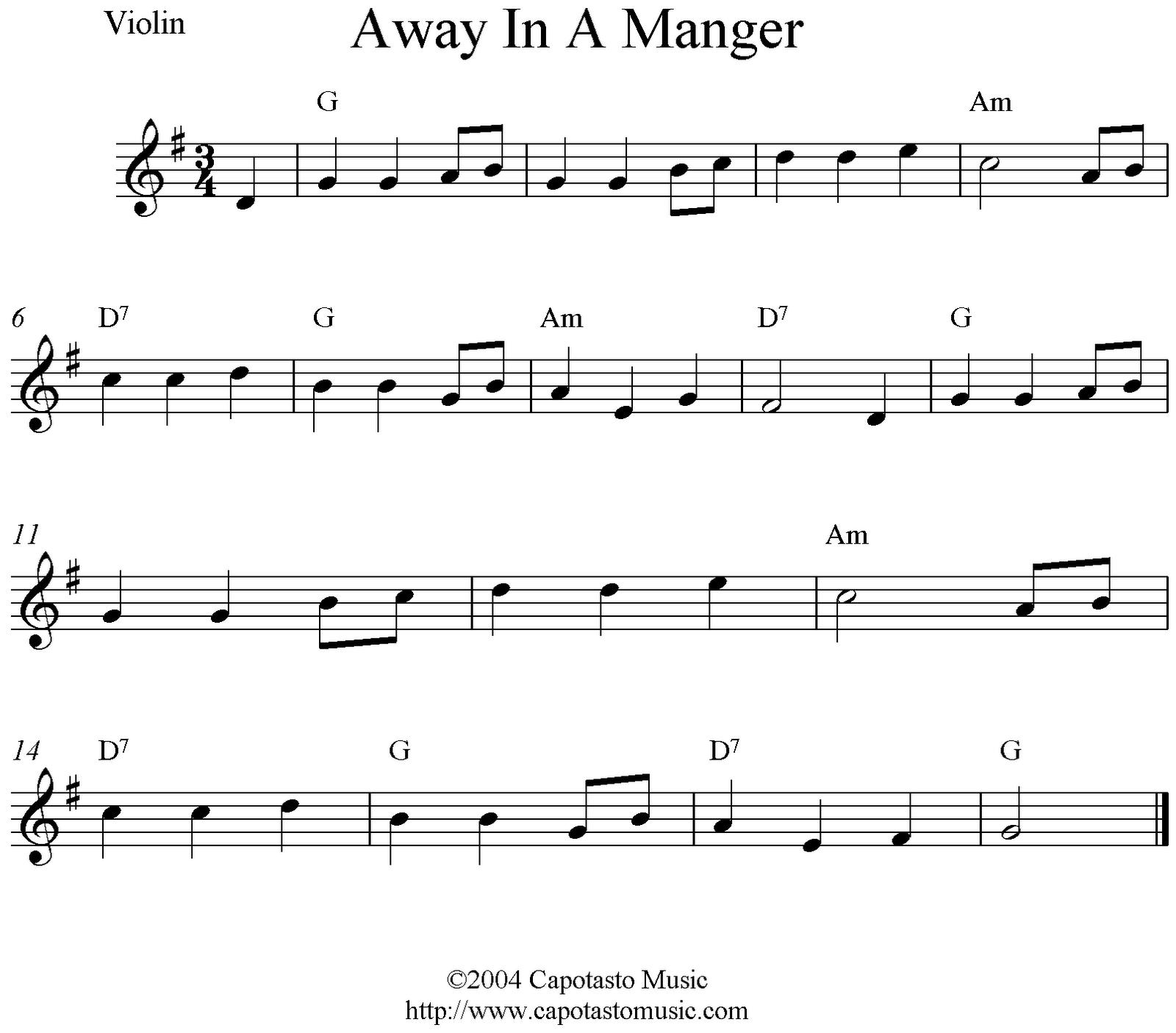 Sheet Music clipart violin