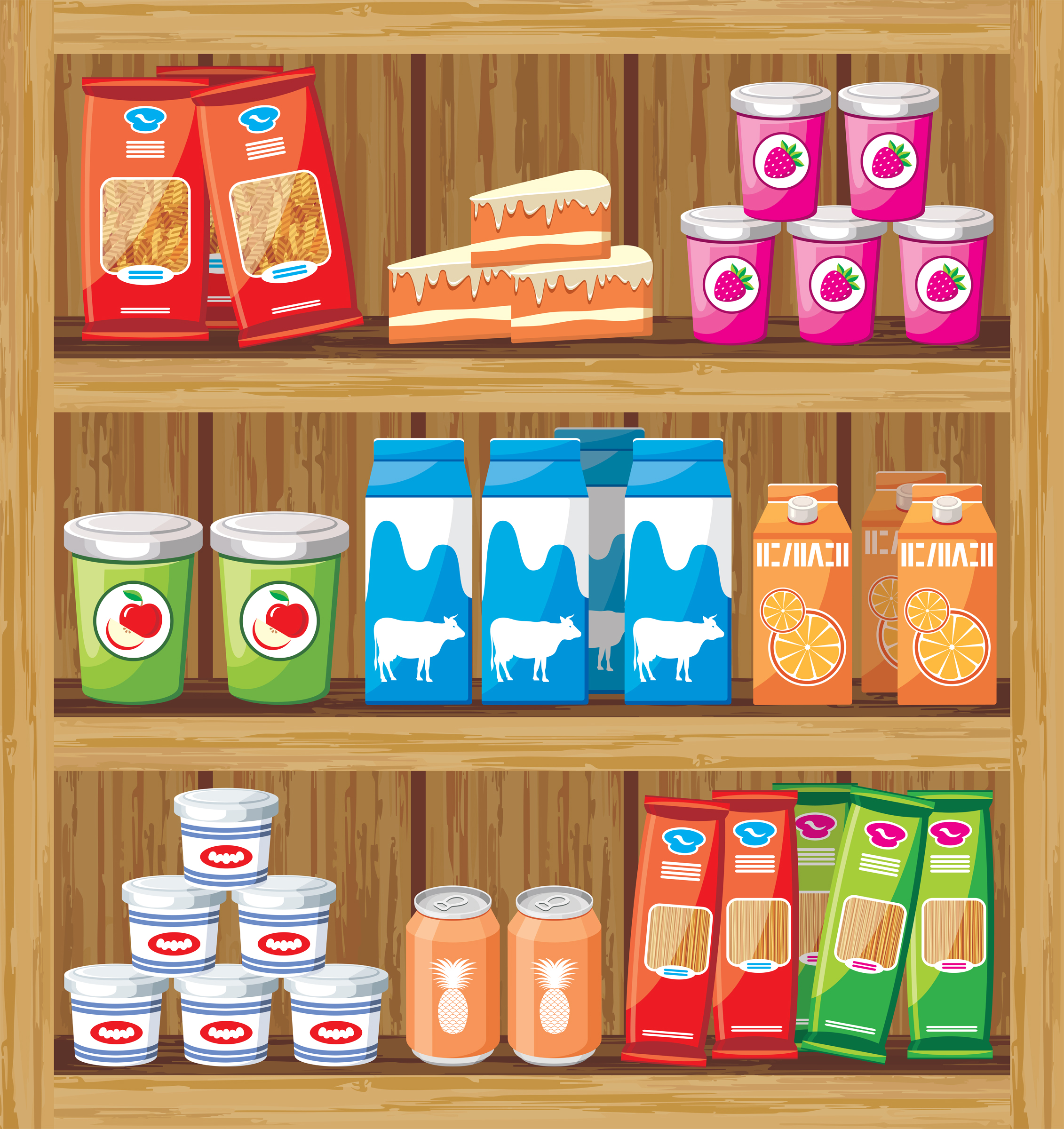 Shelf clipart Shelf Clip Food Art Shelf