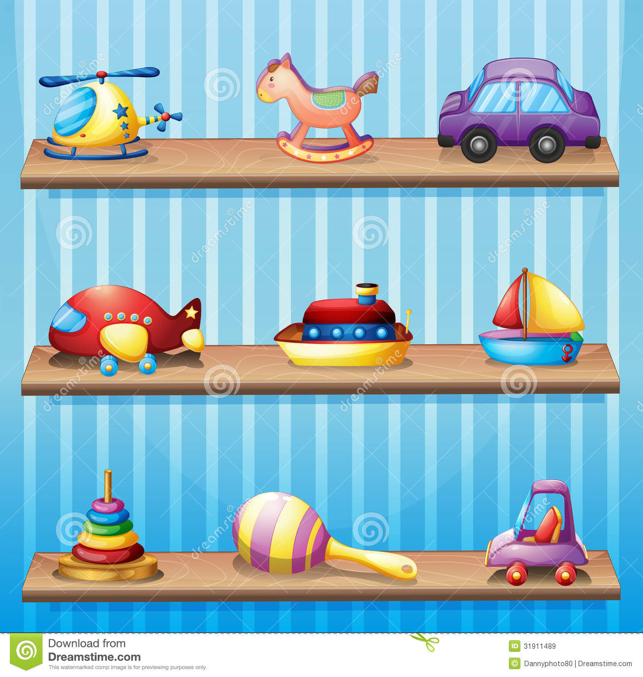 Toy clipart rack #1