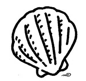 Shell clipart colouring page #14