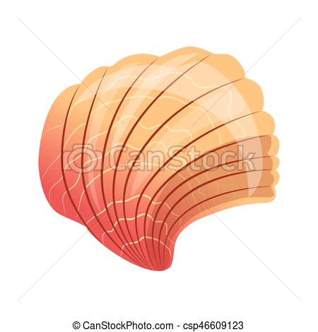 Mollusc clipart blue seashell Scallop an sea a cartoon