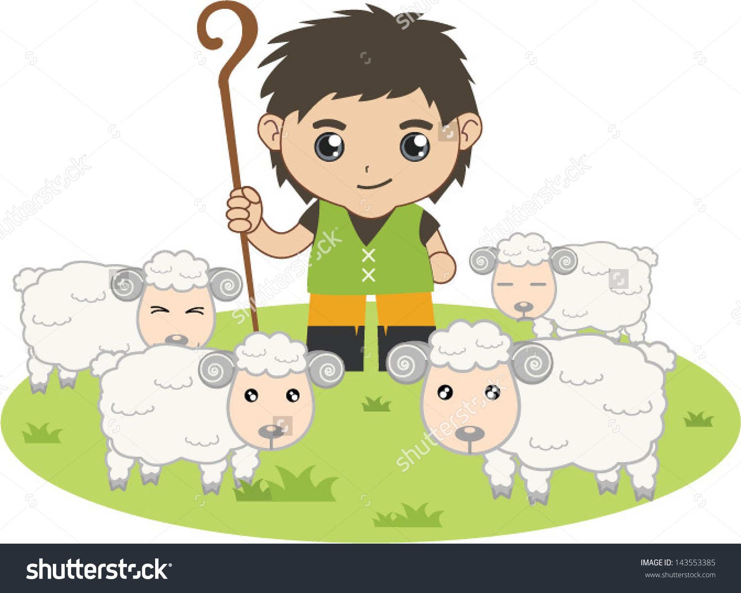 Shepherd Boy clipart #2