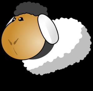 Sheep clipart transparent background #1