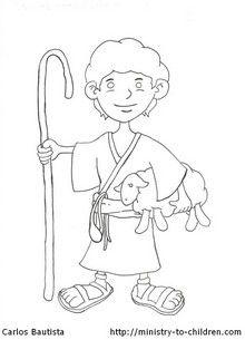 Shepherd Boy clipart jesus Page Pinterest Coloring 20+ ideas