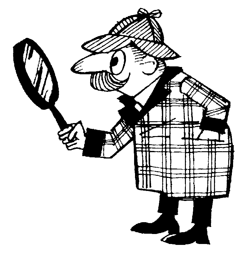 Sherlock Holmes clipart black and white Detective%20clipart%20black%20and%20white Clipart Clipart Black And