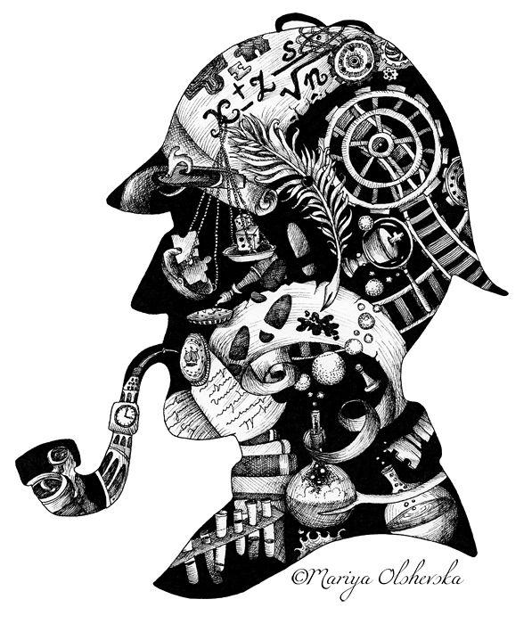 Sherlock Holmes clipart brilliant idea Pinterest  Sherlock 25+ Best