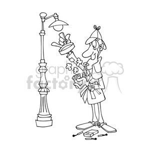 Sherlock Holmes clipart cip Ships caricature transportationss0017b 447 holmes