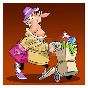 Sherlock Holmes clipart cip Women groceries graphics with 211