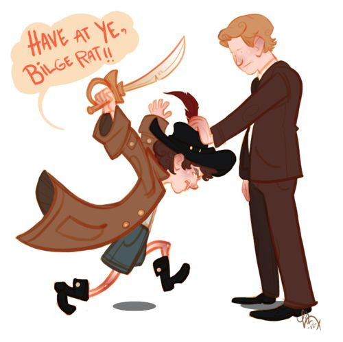 Sherlock Holmes clipart concentration Mycroft 221B 852 about John