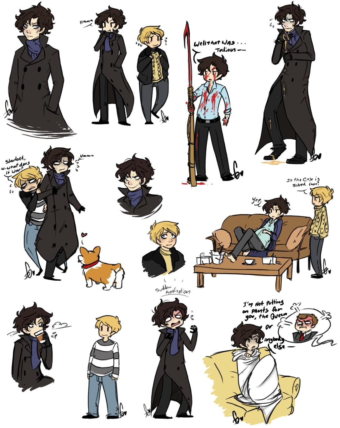 Sherlock Holmes clipart drawing Watson Drawings drawing sherlock Sherlock
