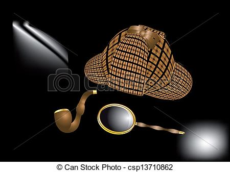 Sherlock Holmes clipart drawing Holmes  Vectors Sherlock Clip