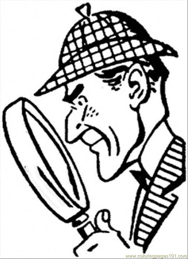 Sherlock Holmes clipart drawing Coloring Free Holmes holmes clipart