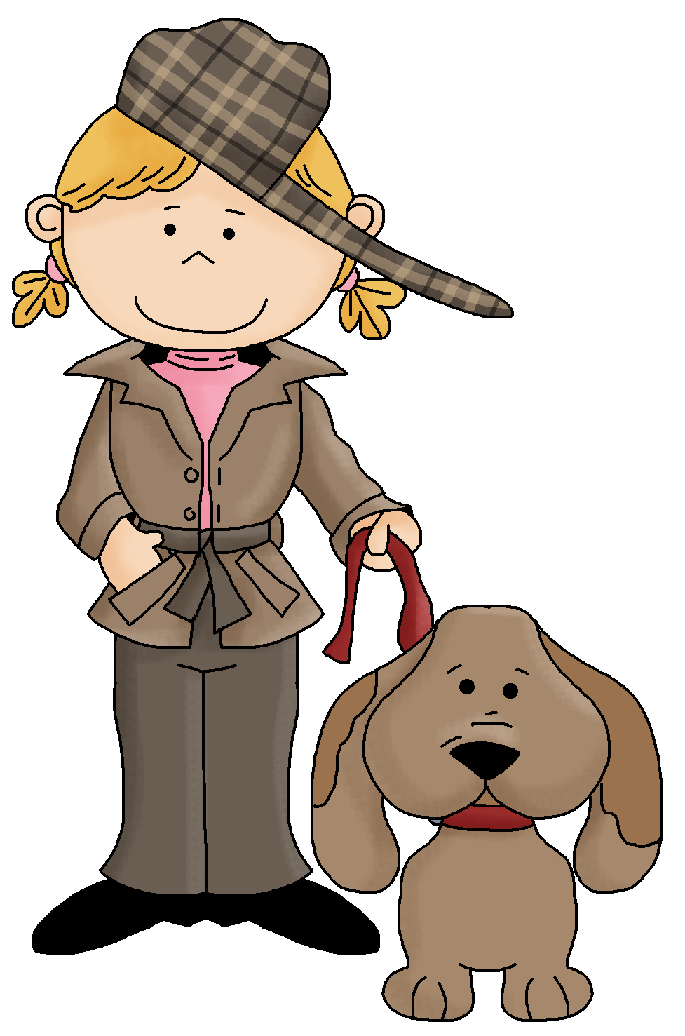 Mystery clipart female detective Detective Kid Printable Detective Clipart