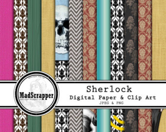 Sherlock Holmes clipart mission Solids 5 Etsy Holmes Backgrounds