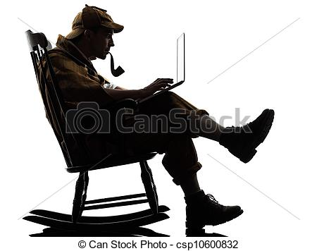 Sherlock Holmes clipart mysterious man Photos sherlock computing Stock computing