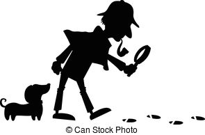 Sherlock Holmes clipart mystery Detective Silhouette smoker silhouette; Holmes