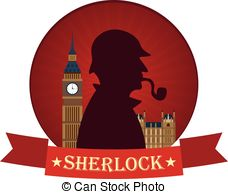 Sherlock Holmes clipart mystery Baker with 221B illustration Detective
