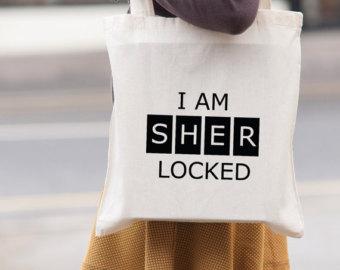Sherlock Holmes clipart mystery bag Tote Am bag bag Locked
