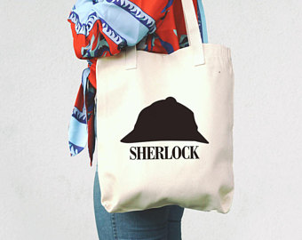 Sherlock Holmes clipart mystery bag Sherlock Tote Sherlock TV Bag