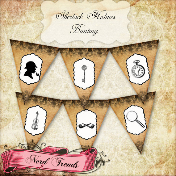 Sherlock Holmes clipart mystery bag Mystery Holmes Bunting Mystery DOWNLOAD