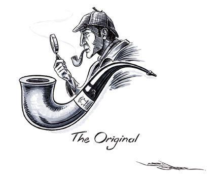 Sherlock Holmes clipart original Clipart Original – Sherlock 2964