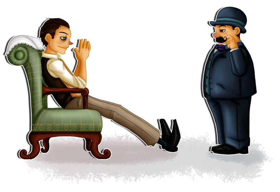 Sherlock Holmes clipart point view  Hercule vs Picture Poirot