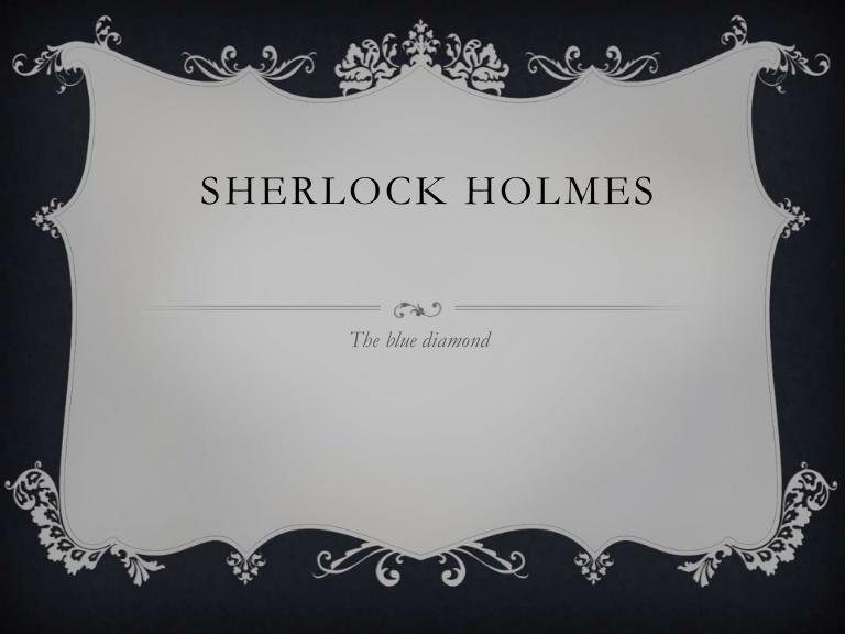 Sherlock Holmes clipart presentation Sherlock diamond the  holmes