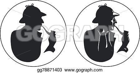 Sherlock Holmes clipart reason Sherlock illustration silhouette gg78871403 inspector