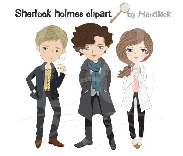Sherlock Holmes clipart reason Holmes 300 PNG digital a