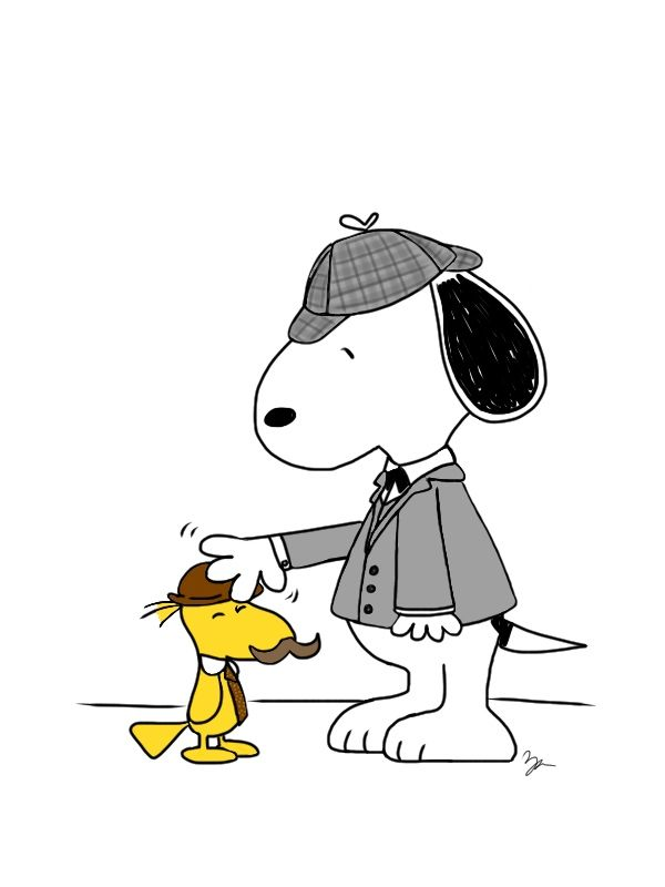 Snoopy clipart detective Holmes Patron Woodstock Peanuts Snoopy
