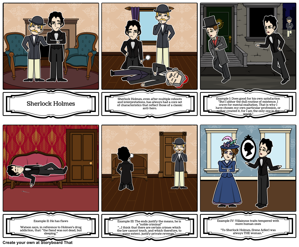 Sherlock Holmes clipart reference Anti hero Print This Storyboard