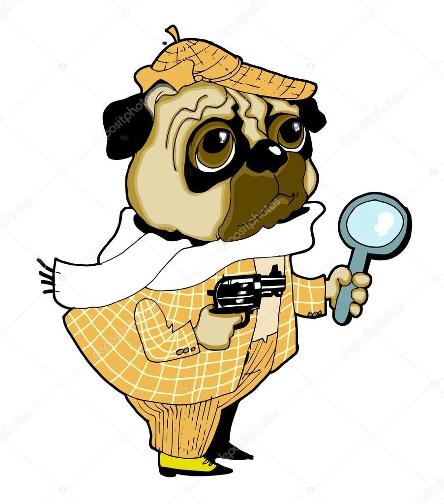 Sherlock Holmes clipart topic — Stock #2042909 Vector #2042909