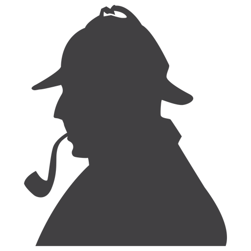 Sherlock Holmes clipart topic Png Sherlock silhouette holmes PNG