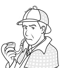 Sherlock Holmes clipart topic PAGES Detective following girl with