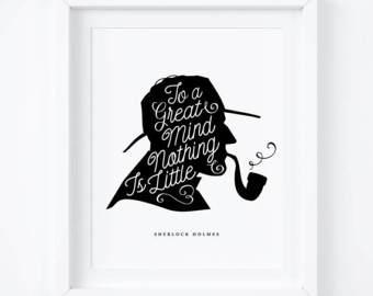 Sherlock Holmes clipart word problem Silhouette Silhouette Print Print Sherlock