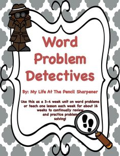 Sherlock Holmes clipart word problem This Mystery problems is tasks