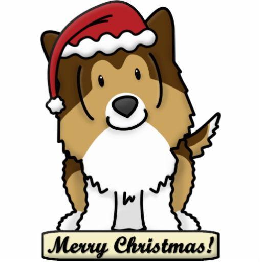 Drawn santa hat merry christmas Pinterest images shelties Christmas Sheltie