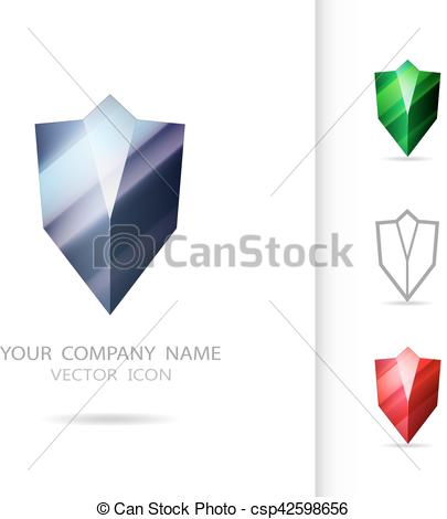 Shield clipart abstract Diamond logo logo Abstract design