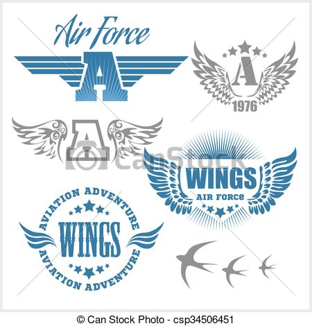 Shield clipart air force Isolated shields labels with labels