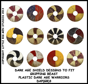 Shield clipart anglo saxon Saxon anglo Three Warriors DAP(GB)3