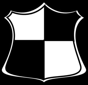 Shield clipart black and white Art com Clip Clip Clker