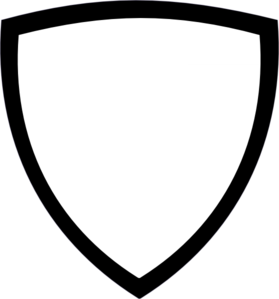 Shield clipart black and white Vector  at Shield White